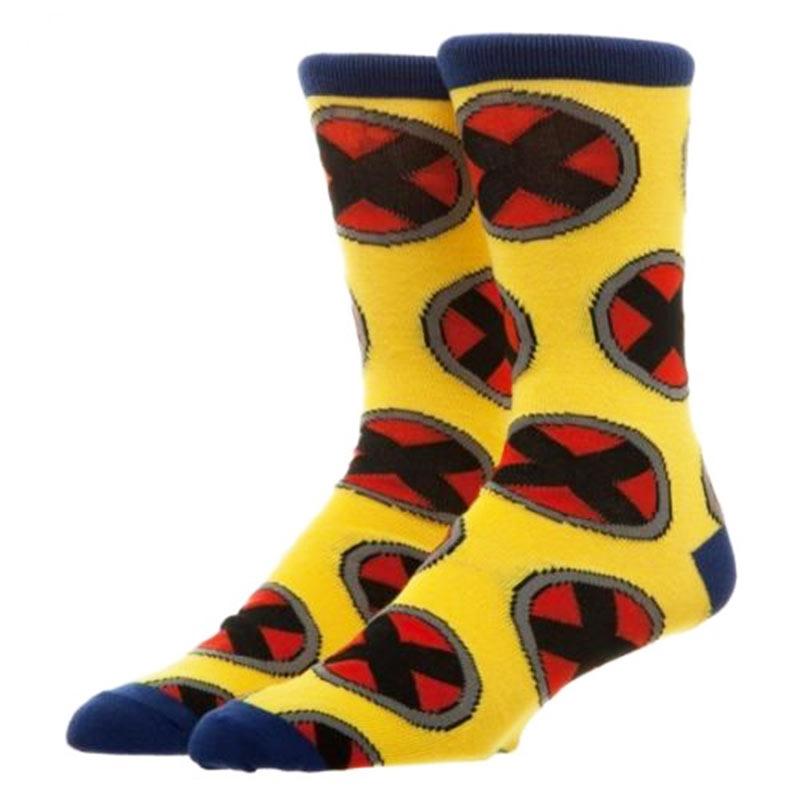 X-Men Yellow Men's Repeat Logo Crew Socks