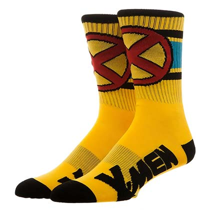 X-Men Yellow Wolverine Men's Crew Socks