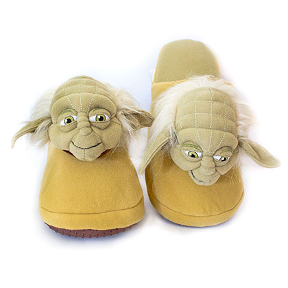 Star Wars Yoda Green Plush Slippers