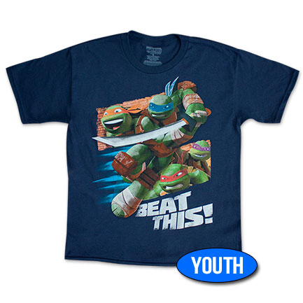 Teenage Mutant Ninja Turtles Navy Blue Youth Boys 8-20 T-Shirt