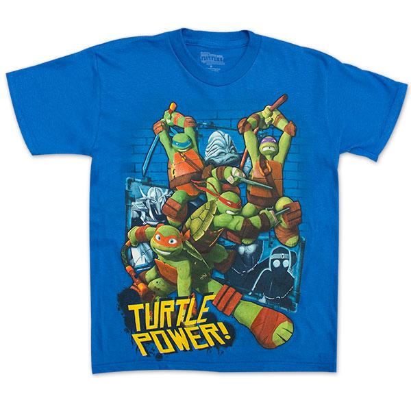 "Teenage Mutant Ninja Turtles ""Turtle Power"" Boys 8-20 TShirt - Royal Blue"