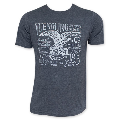 Yuengling Denim Washed 185th Year T-Shirt