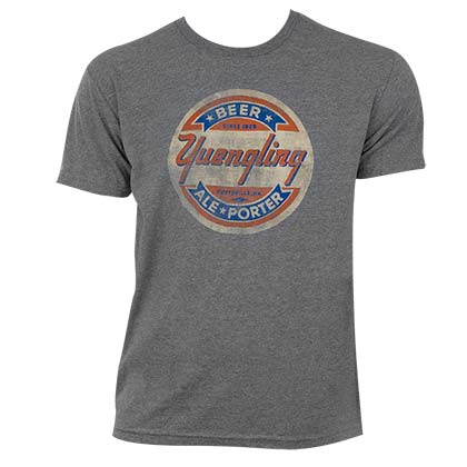 Yuengling Men's Grey Faded Circle Logo T-Shirt