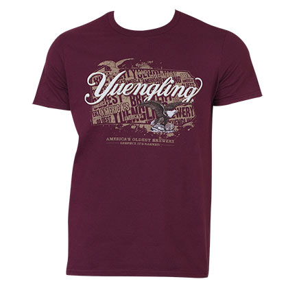 Yuengling Men's Maroon Eagle Logo T-Shirt