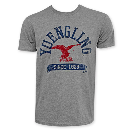 Yuengling Red Eagle Logo Gray T-Shirt