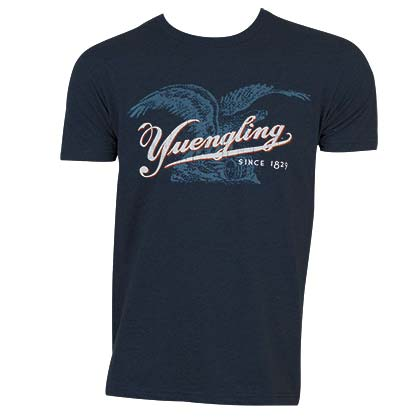 Yuengling Men's Navy Blue Eagle Logo T-Shirt