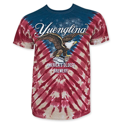 Yuengling Red And Blue Tie Dye Americana Tee Shirt
