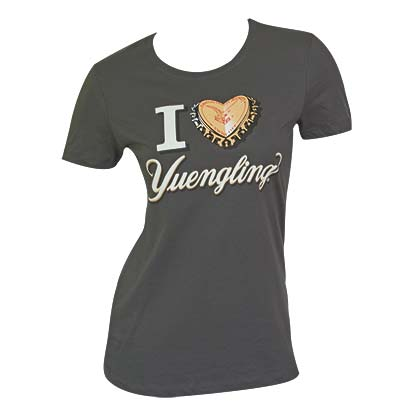 Women's Yuengling Bottle Cap Heart Tee Shirt