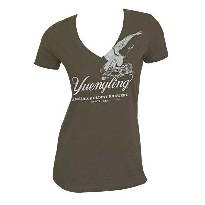 Women's Yuengling Eagle Green Tee Shirt