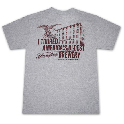 Yuengling Toured America's Oldest Brewery Gray Graphic Tee Shirt