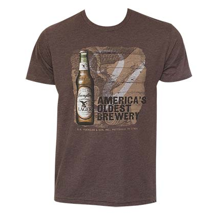 Men's Yuengling Brown Lager Bottle Tee Shirt