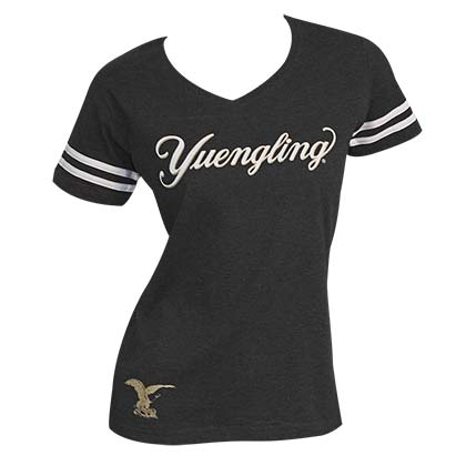 Women's Yuengling Striped Sleeve Tee Shirt