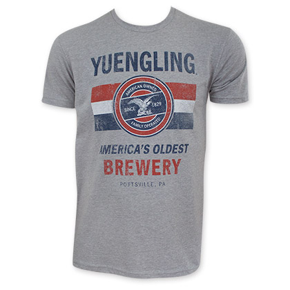 Yuengling Men's Gray Family Owned T-Shirt