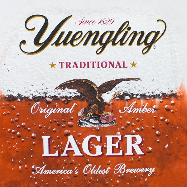 Yuengling Lager Beer Tie Dye Tee Shirt White Orange