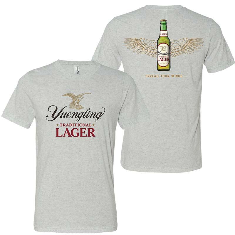 Yuengling Spread Your Wings Men's Grey Tee Shirt