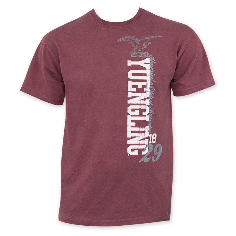 Yuengling Men S Brick Red Vertical Logo T Shirt