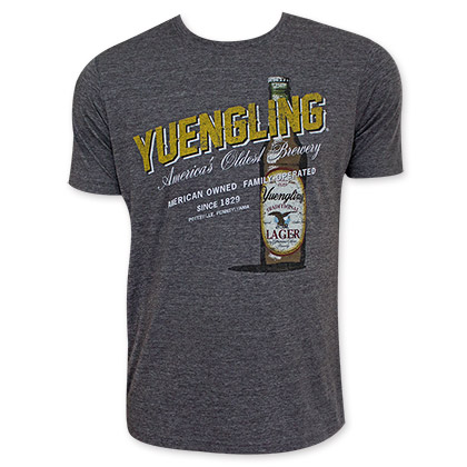 Yuengling Men's Gray Yellow Logo T-Shirt