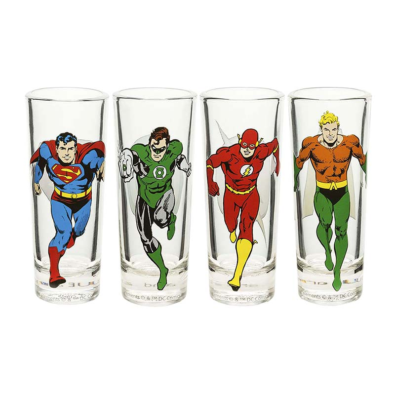 Justice League Superhero Shot Glass Set