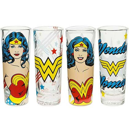 Wonder Woman Superhero Shot Glass Set