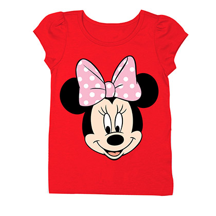 Disney Minnie Mouse Girls 7-16 Red Face T-Shirt