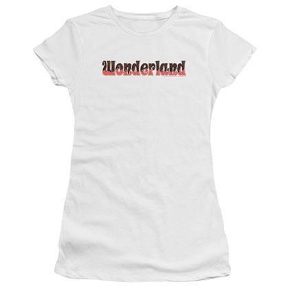 Zenescope Wonderland Logo White Juniors T-Shirt