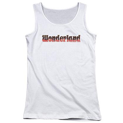 Zenescope Wonderland Logo White Juniors Tank Top