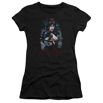 Zenescope Helsing Black Juniors T-Shirt