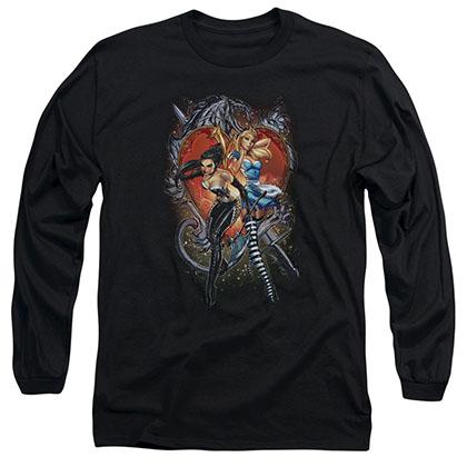 Zenescope Heart Black Long Sleeve T-Shirt