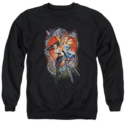 Zenescope Heart Black Crew Neck Sweatshirt