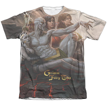 Zenescope Evil Vs Good White Sublimation T-Shirt