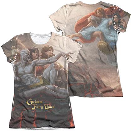 Zenescope Evil Vs Good White 2-Sided Juniors Sublimation T-Shirt