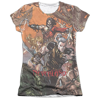 Zenescope Neverland White Juniors Sublimation T-Shirt