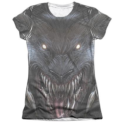 Zenescope Werewolf White Juniors Sublimation T-Shirt