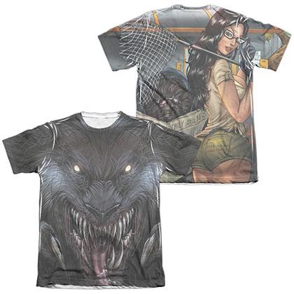 Zenescope Werewolf White 2-Sided Sublimation T-Shirt