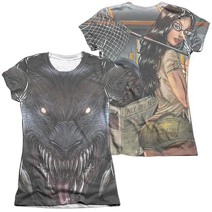 Zenescope Werewolf White 2-Sided Juniors Sublimation T-Shirt