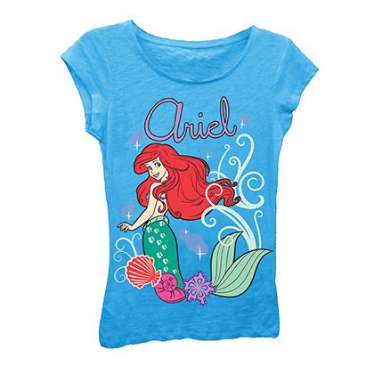 Disney The Little Mermaid Girls 7-16 Light Blue Ariel Tee Shirt