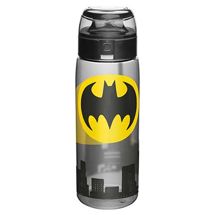 Batman Plastic Travel Water Bottle With Loop