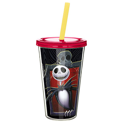 Nightmare Before Christmas Tumble Cup With Straw