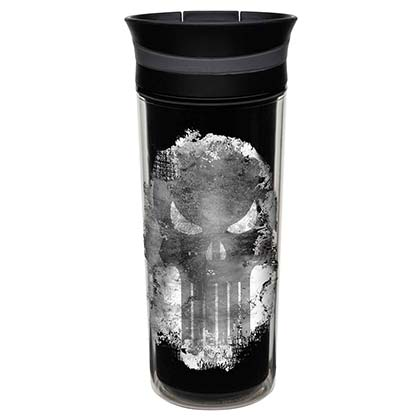 The Punisher Black Double Wall Travel Mug