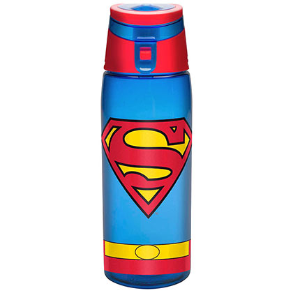 Superman Plastic Travel Water Bottle With Loop