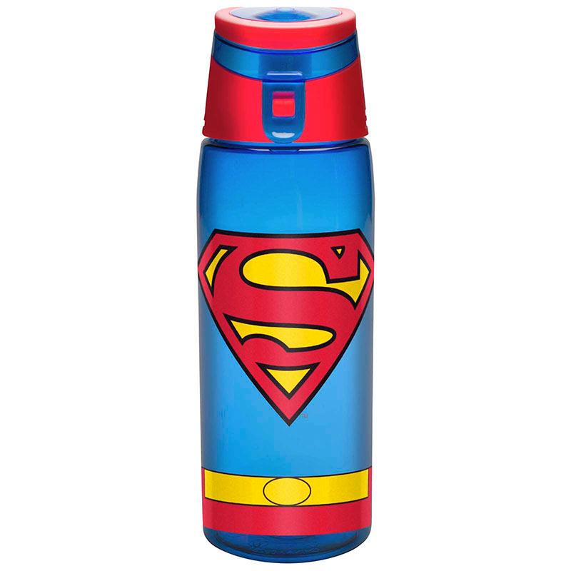 Superman Plastic Travel Water Bottle With Loop