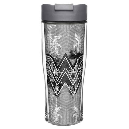 Wonder Woman Black & White Insulated Travel Mug