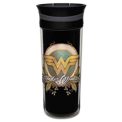 Wonder Woman Insulated Vine Logo Travel Mug