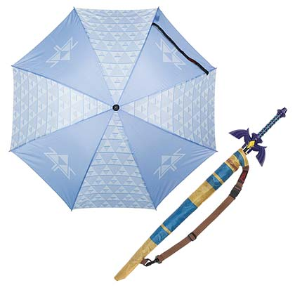 Legend Of Zelda Blue Triforce Umbrella