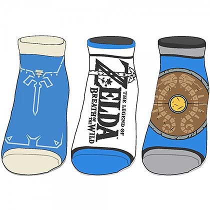 Legend Of Zelda Breath Of The Wild 3-Pack Ankle Socks