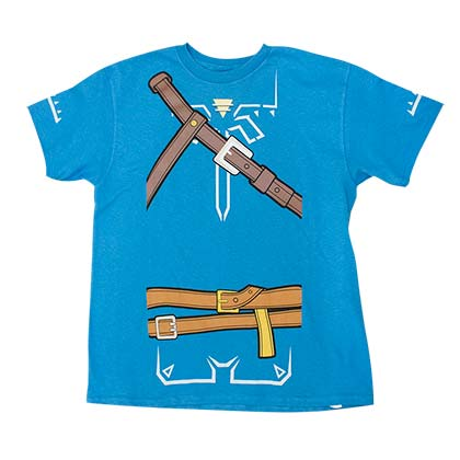 The Legend Of Zelda Breath Of The Wild Boys Blue Costume T-Shirt