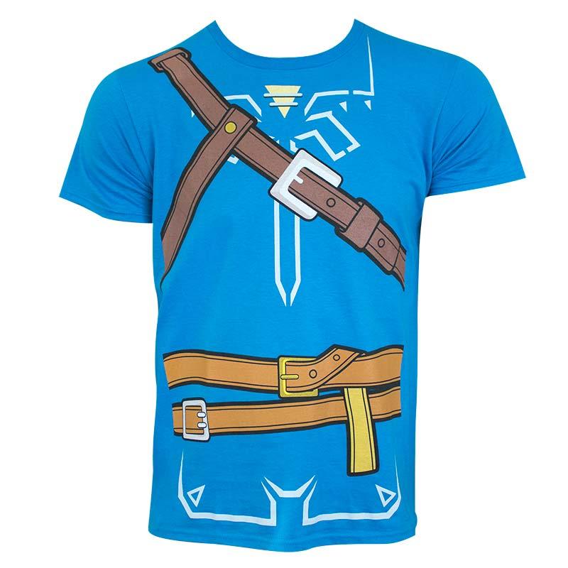 Legend Zelda Mens Blue Breath Wild Costume Tshirt P 43140