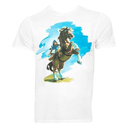 The Legend Of Zelda Breath Of The Wild Men's White Horse T-Shirt