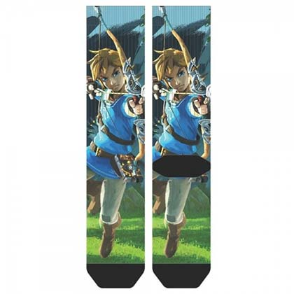 The Legend Of Zelda Men's Breath Of The Wild Crew Socks