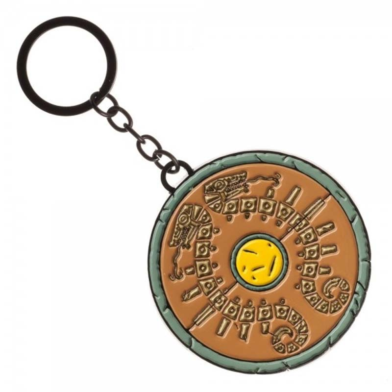 The Legend Of Zelda Round Metal Breath Of The Wild Keychain